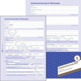 AVERY Zweckform Vordruck Einheitsmietvertrag 4-seitig, A4,