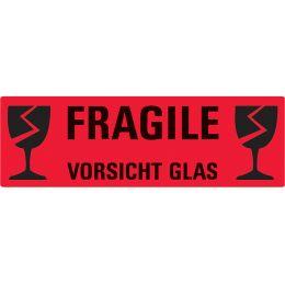 AVERY Zweckform Hinweisetikett Vorsicht Glas, 119 x 38 mm