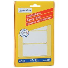 AVERY Zweckform Adress-Etiketten, 67 x 38 mm, auf Bogen