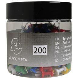 EXACOMPTA Pinnwand-Nadeln Push Pins, farbig sortiert