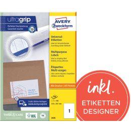AVERY Zweckform Universal-Etiketten, 105 x 57 mm, weiß