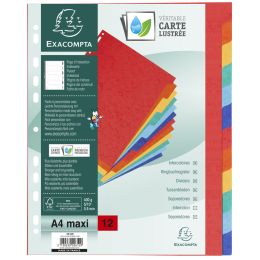 EXACOMPTA Karton-Register, DIN A4, 12-teilig