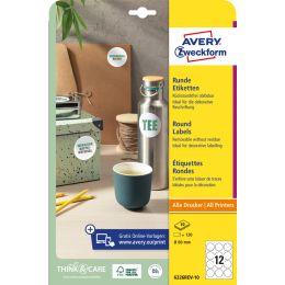 AVERY Zweckform Stick+Lift Etiketten rund, Durchmesser 10 mm
