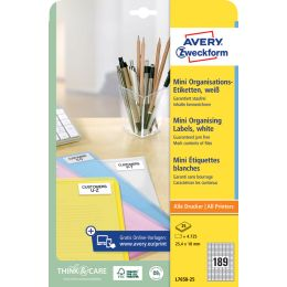 AVERY Zweckform Mini-Etiketten, 35,6 x 16,9 mm, weiß