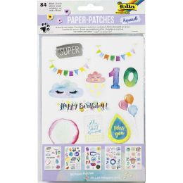 folia Paper Patches AQUARELL, DIN A5, 5 Blatt