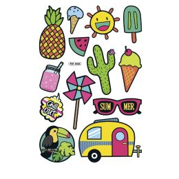 folia Puffy-Sticker Summer, Blattformat: 105 x 160 mm