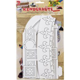 folia Kinderhüte-Set ABENTEUER, aus Pappe, weiß