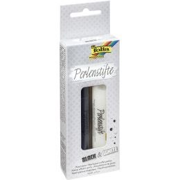folia Perlenstifte Black & White, 30 ml, 2er Set