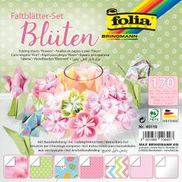 folia Faltblätter-Set BLÜTEN, 170 Blatt