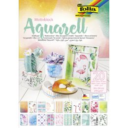 folia Motivblock Aquarell, 240 x 340 mm, 20 Blatt