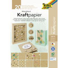 folia Motivblock Kraftpapier, 240 x 340 mm, 20 Blatt