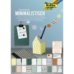 folia Motivblock Minimalistisch, 240 x 340 mm, 20 Blatt