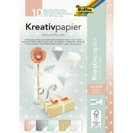folia Kreativpapier Velourpunkte, 240 x 340 mm