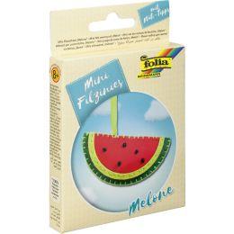 folia Mini Filz-Nähset Filzinies, 14-teilig, Melone