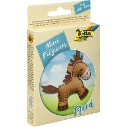 folia Mini Filz-Nähset Filzinies, 11-teilig, Pferd