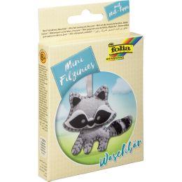 folia Mini Filz-Nähset Filzinies, 12-teilig, Waschbär