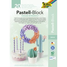 folia Tonpapier- und Fotokarton-Block PASTELL, A4, 20 Blatt