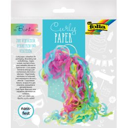 folia Papierlocken Curly Paper, bunt