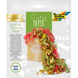 folia Papierlocken Curly Paper, gold
