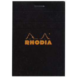 RHODIA Notizblock No. 11, DIN A7, kariert, schwarz