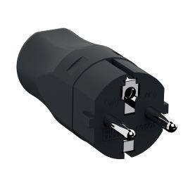 BACHMANN Schutzkontakt Montage-Zentralstecker, schwarz