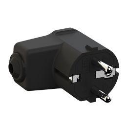 BACHMANN Schutzkontakt Montage-Winkelstecker, schwarz