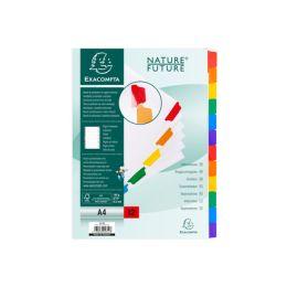 EXACOMPTA Karton-Register, DIN A4, weiß, 6-teilig
