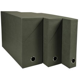 EXACOMPTA Archivbox, DIN A4, Karton, 50 mm, dunkelgrün