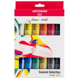 ROYAL TALENS Acrylfarbe AMSTERDAM Introset II, 12 x 20 ml