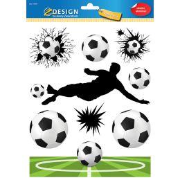 AVERY Zweckform ZDesign KIDS Fensterbild Fußball, DIN A4
