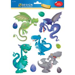 AVERY Zweckform ZDesign KIDS Fensterbild Drache, DIN A4