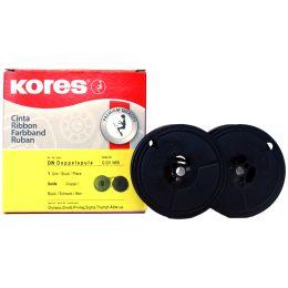 Kores Farbband, Gruppe 1, DIN DS, Nylon, schwarz/rot