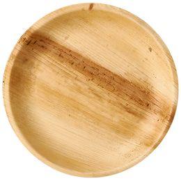 PAPSTAR Palmblatt-Teller pure, rund, 250 mm, 25er