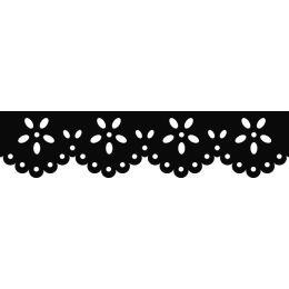HEYDA Bordüren-Motivstanzer Blume, Farbe: lila