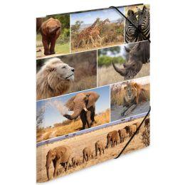 HERMA Eckspannermappe Afrika Tiere, aus Karton, DIN A3