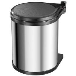 Hailo Einbau-Mülleimer Compact-Box M, Edelstahl, 15 Liter