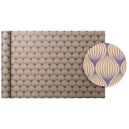 Clairefontaine Geschenkpapier Tiny Rolls Blumen blau