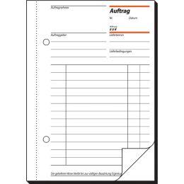 sigel Formularbuch Auftrag, A5, 2 x 50 Blatt, Blaupapier