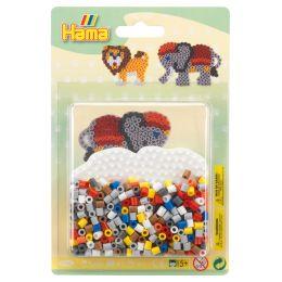 Hama Bügelperlen midi Elefant/Löwe, im Blister