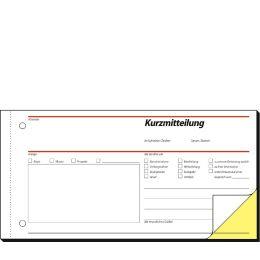 sigel Formularbuch Kurzmitteilung, 1/3 A4 quer, SD