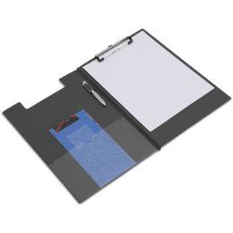 RAPESCO Klemmbrett-Mappe, DIN A4, PVC-Folie, schwarz