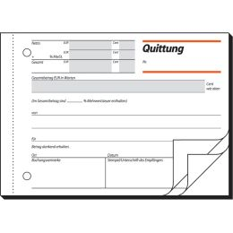 sigel Formularbuch Quittung, mit MwSt.-Nachweis, A6 quer