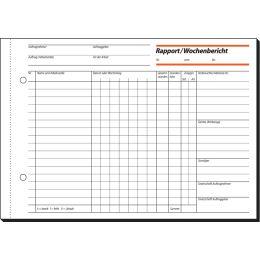 sigel Formularbuch Rapport/Wochenbericht, A5 quer