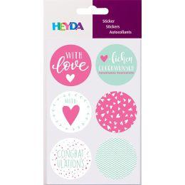 HEYDA Geschenke-Sticker Love, Durchmesser: 40 mm