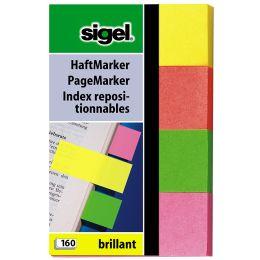 sigel Haftmarker Brillant, 50 x 20 mm, 160 Blatt