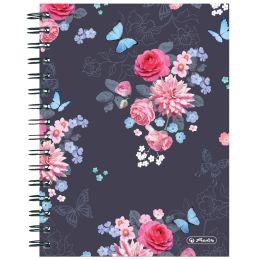 herlitz Collegeblock Ladylike Flowers, DIN A5, 100 Blatt
