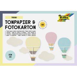 folia Tonpapier- und Fotokarton-Block TREND, A6, 60 Blatt