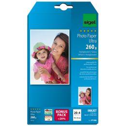 sigel Ultra-Foto-Papier, 10 x 15 cm, hochglänzend, 260 g/qm