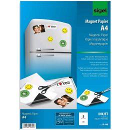 sigel Inkjet-Magnet-Papier, spezialbeschichtet, DIN A4