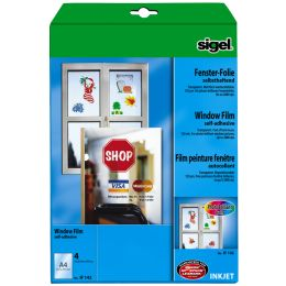 sigel Inkjet-Fenster-Folie, DIN A4, transparent, klar
